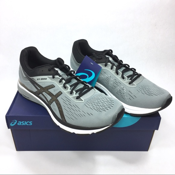 separation shoes d4fee 60852 ASICS Men GT 1000-7 Running Shoe 11 Grey Black NWT